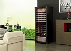 A wine cabinet can fit perfectly into the interior design of your living room.