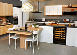 You can fit your wine cabinet in your kitchen.