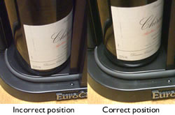 [image] Correct and incorrect bottle position