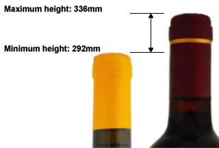 Maximum and minimum bottle heights